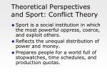 theoretical perspectives and sport conflict theory