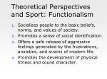 theoretical perspectives and sport functionalism