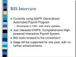 bis interview