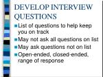 develop interview questions