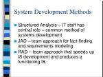 system development methods