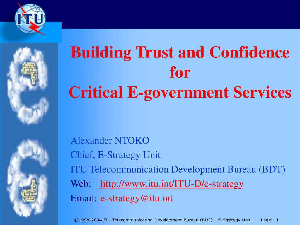 building trust and confidence for critical e government services l.