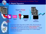 technology framework for online trust 2 digital signature