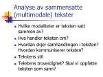 analyse av sammensatte multimodale tekster