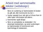 arbeid med sammensatte tekster webdesign