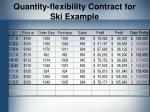 quantity flexibility contract for ski example