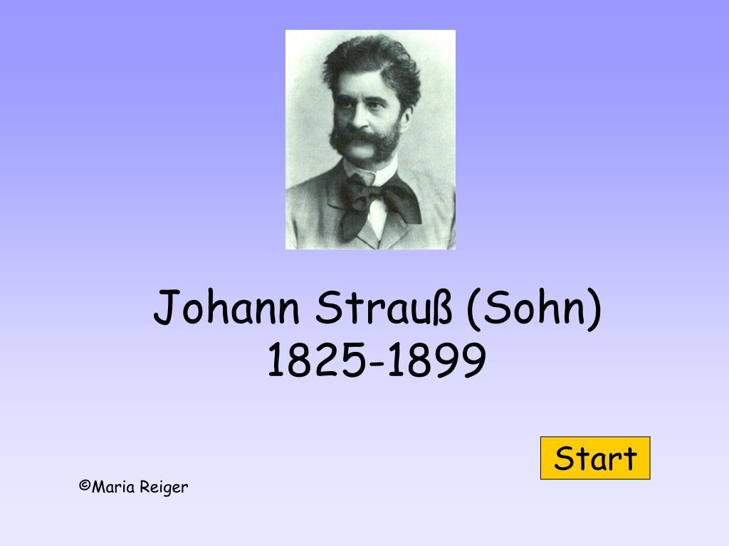 johann strau sohn 1825 1899 l.