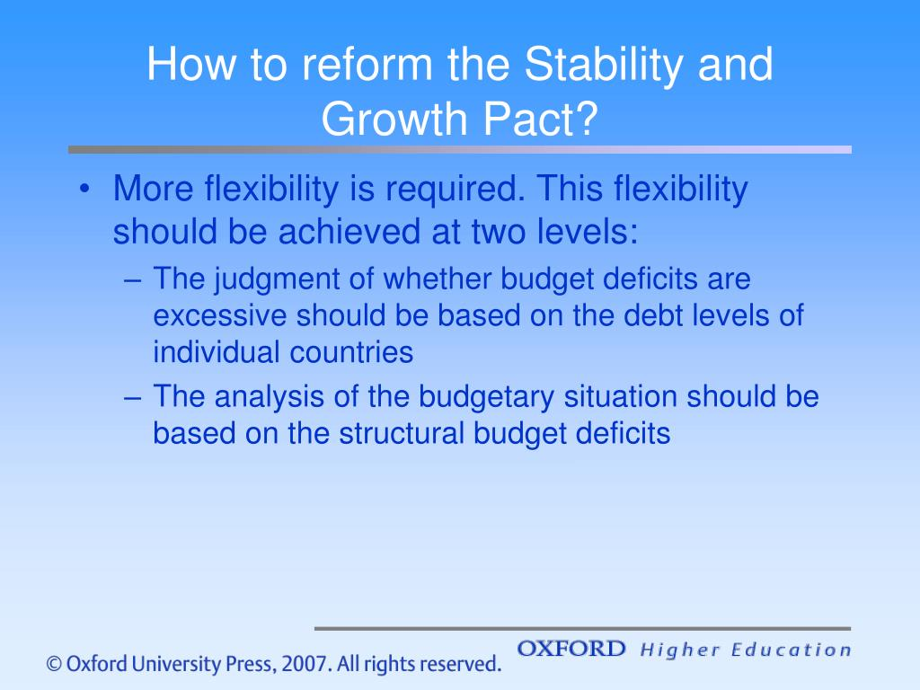 How to reform the Stability and Growth Pact?