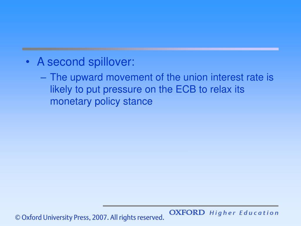 A second spillover: