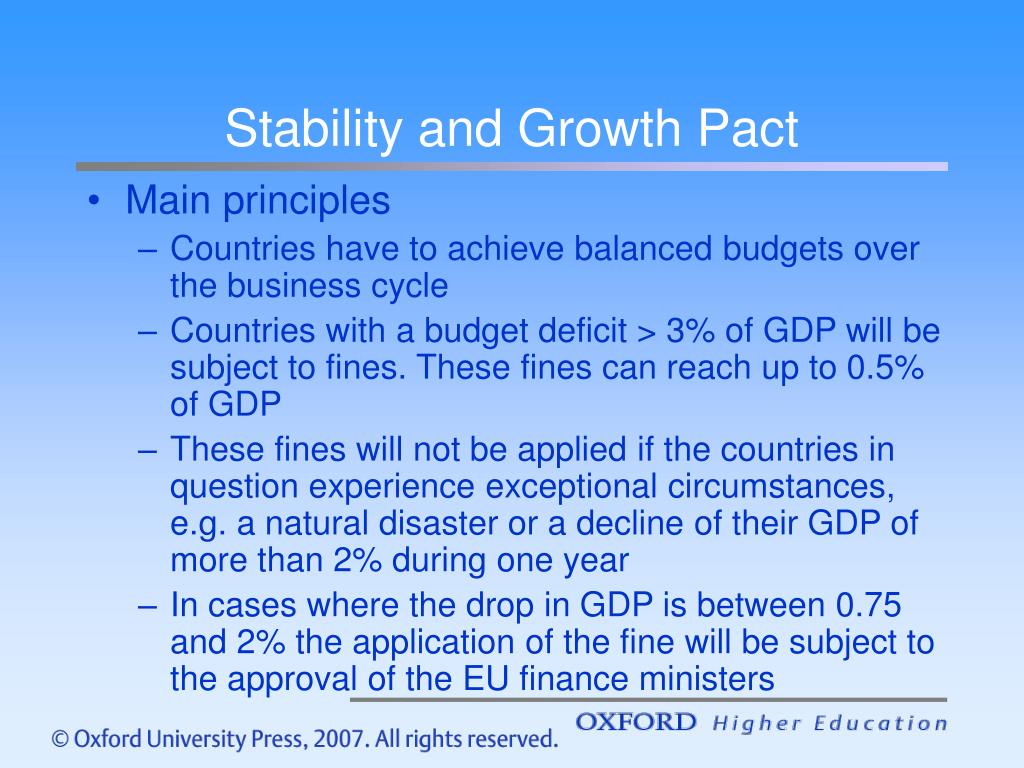 Stability and Growth Pact