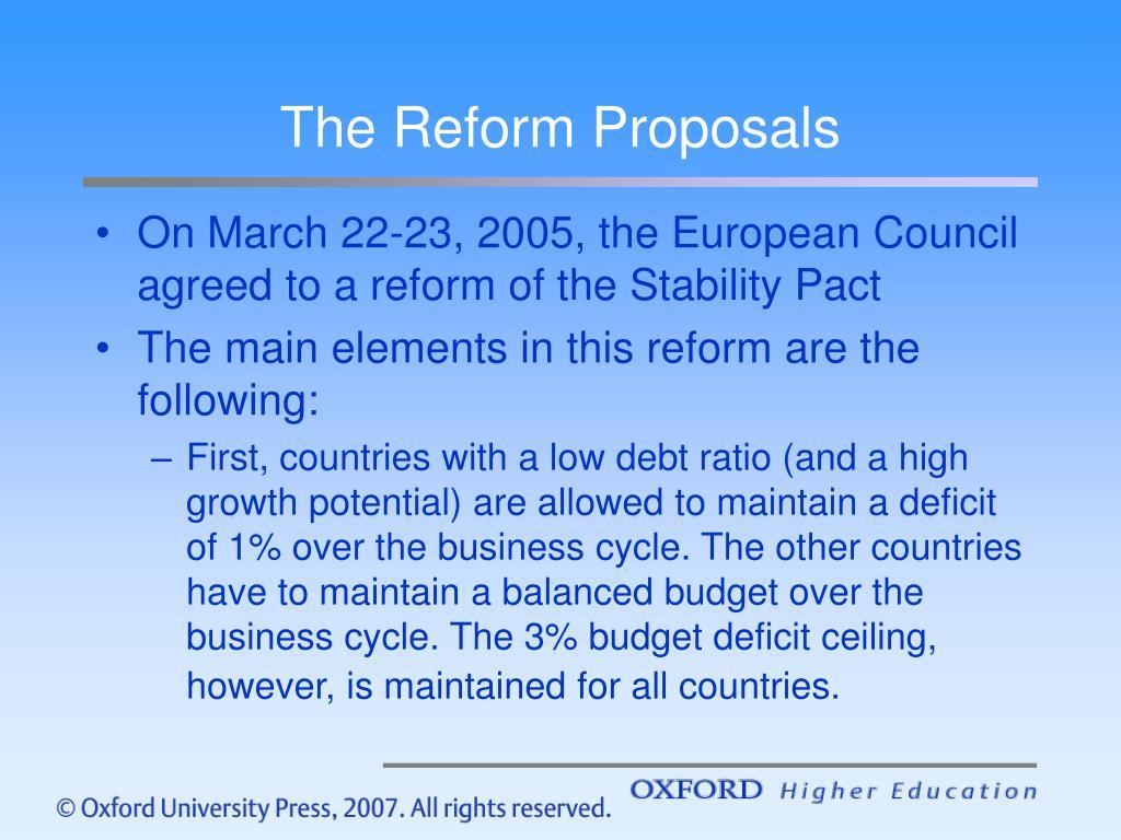 The Reform Proposals
