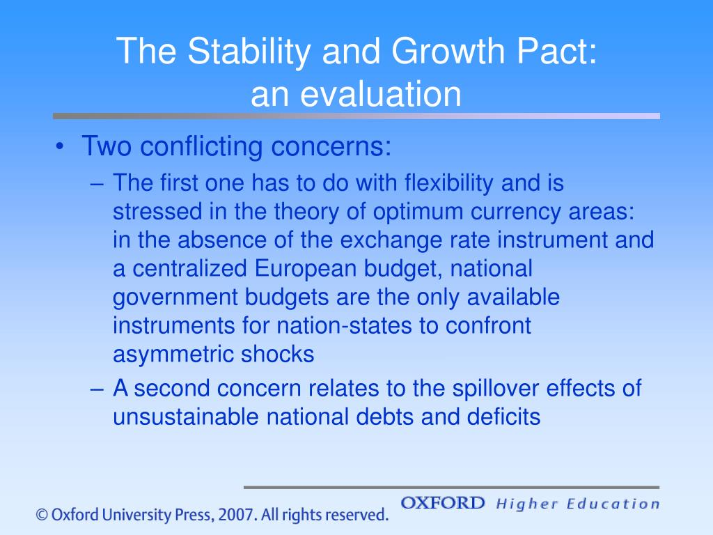 The Stability and Growth Pact: