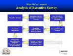 what we ve learned analysis of executive survey