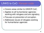 links to coc kenyan code