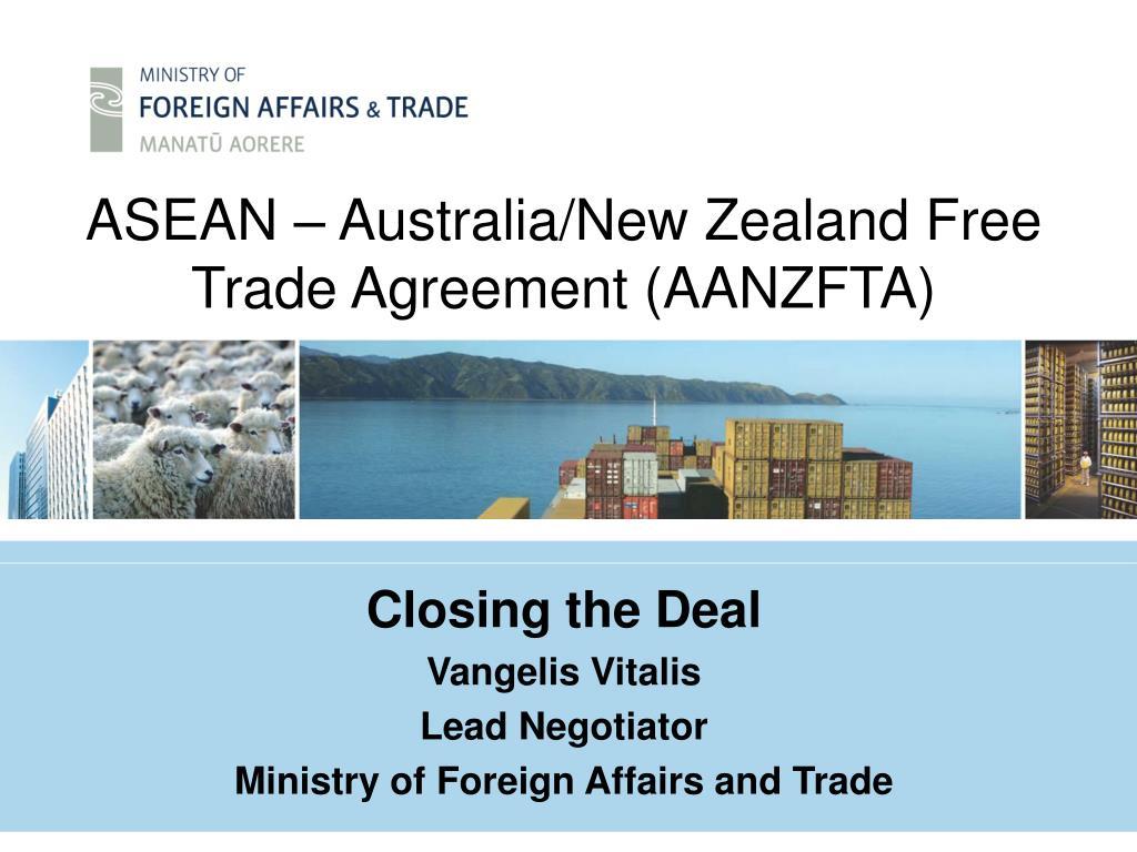 asean australia new zealand free trade agreement aanzfta l.