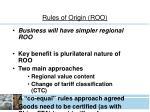 rules of origin roo