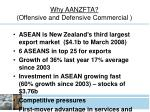 why aanzfta offensive and defensive commercial