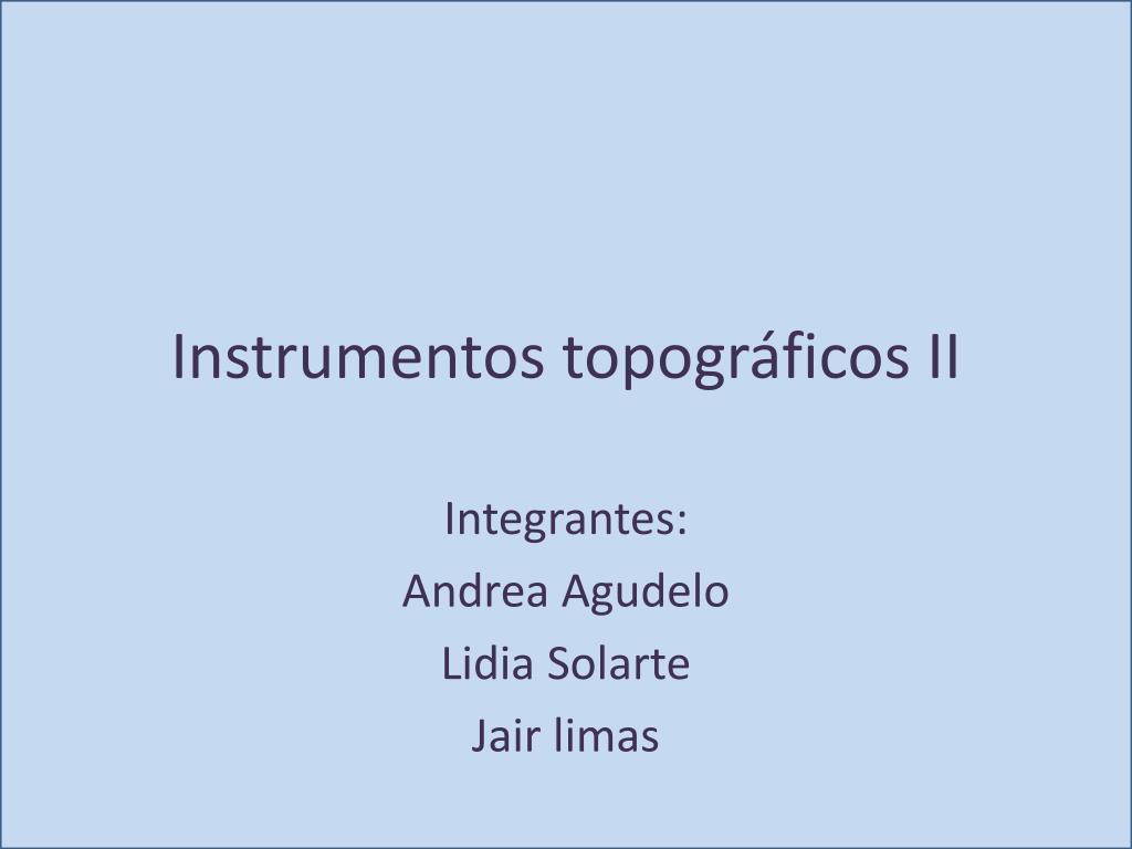 instrumentos topogr ficos ii l.