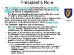 president s role