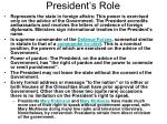 president s role18