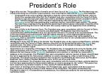 president s role19
