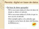 revista digital en base de datos