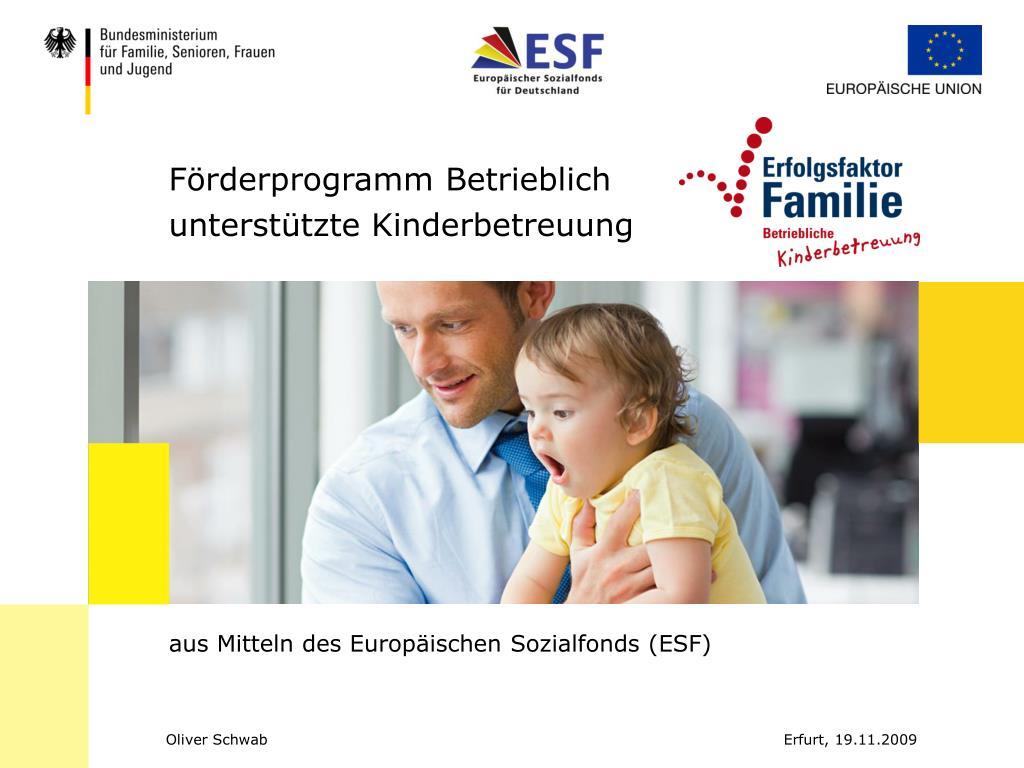 f rderprogramm betrieblich unterst tzte kinderbetreuung l.