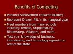 benefits of competing