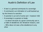 austin s definition of law