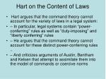 hart on the content of laws