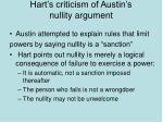 hart s criticism of austin s nullity argument