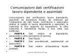 c omunicazioni dati certificazioni lavoro dipendente e assimilati