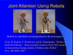 joint attention using robota