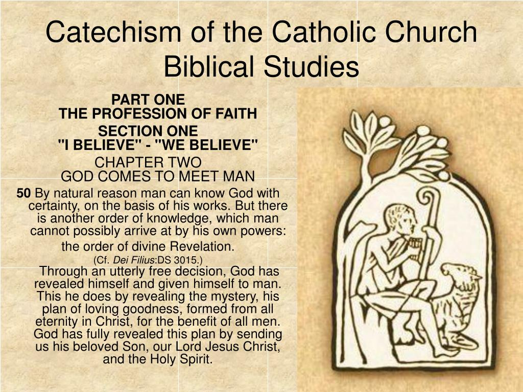 catechism of the catholic church biblical studies l.
