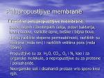 polupropustljive membrane
