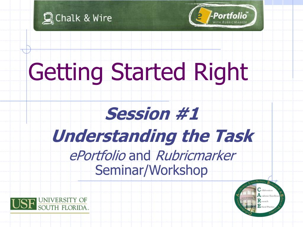 PPT - Getting Started Right PowerPoint Presentation - ID:536516