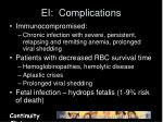 ei complications