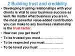 2 building trust and credibility