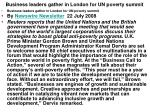 business leaders gather in london for un poverty summit