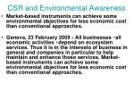 csr and environmental awareness