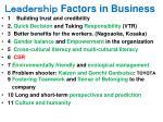 factors in business
