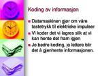 koding av informasjon