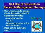 10 4 use of toxicants in research management surveys