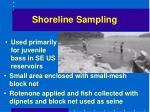 shoreline sampling