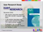 user research study