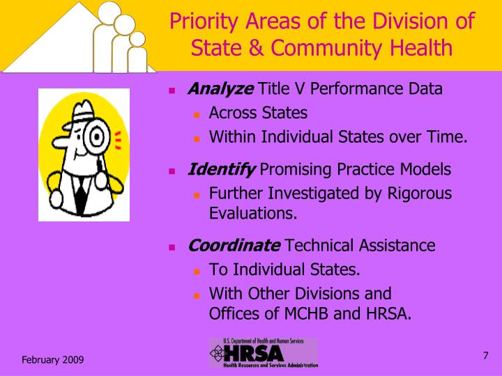 Priority Areas of the Division of State & Community Health