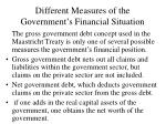different measures of the government s financial situation
