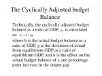 the cyclically adjusted budget balance