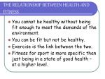 the relationship between health and fitness
