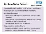 key benefits for patients